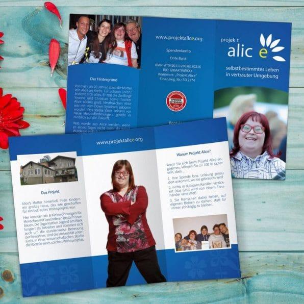 Flyer Projekt Alice
