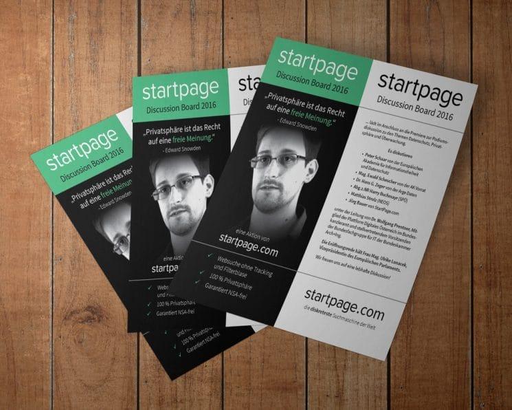 Flyer für Discussion Board zur Snowden-Premiere