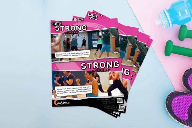 Plakat Strong by Zumba von BodyWave