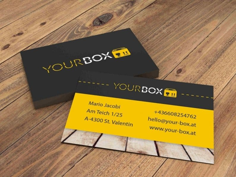 Visitenkarte YOUR BOX