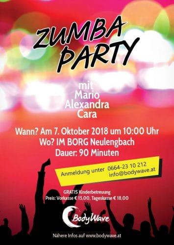 Plakat Zumbaparty
