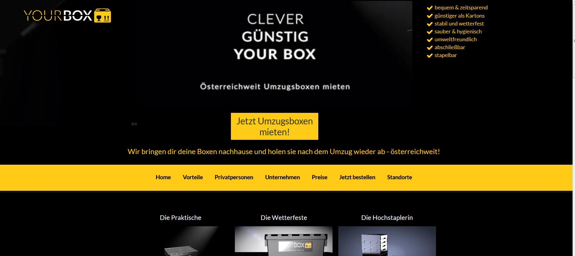 umzugsboxen